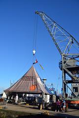 Alter Hafenkran im Museumshafen Övelgönne