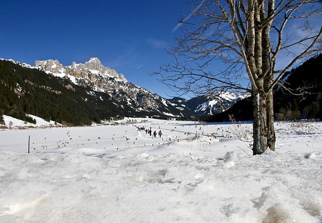 Wintervergnügen auf dem Haldensee