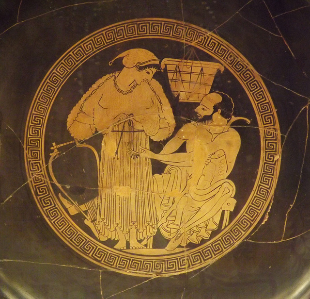 Detail of a Red-Figure Kylix Signed by Euphronios as Potter and Onesimos as Painter in the British Museum, May 2014