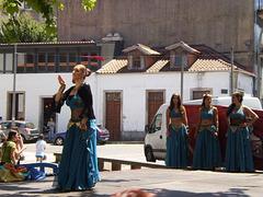 Oriental dancing.