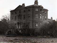 Lee Hall, Gateachre, Liverpool awaiting demolition c1956?
