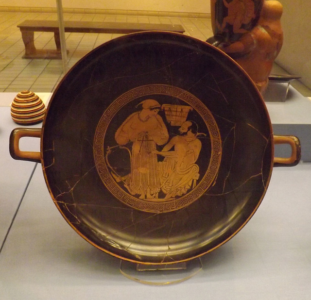 Red-Figure Kylix Signed by Euphronios as Potter and Onesimos as Painter in the British Museum, May 2014