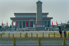 At the Tian'anmen square in Beijing