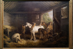 """""""Intérieur d'une écurie"""" (George Morland - 1791)"""