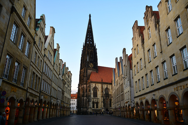 Münster 2015 – St. Lamberti Church and Prinzipalmarkt