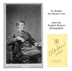 R Burdon, the Rector's son - from English Bicknor photographs