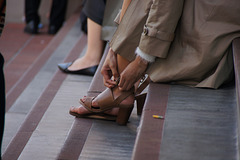 taking heels off