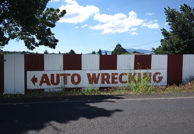 Auto Wrecking that way