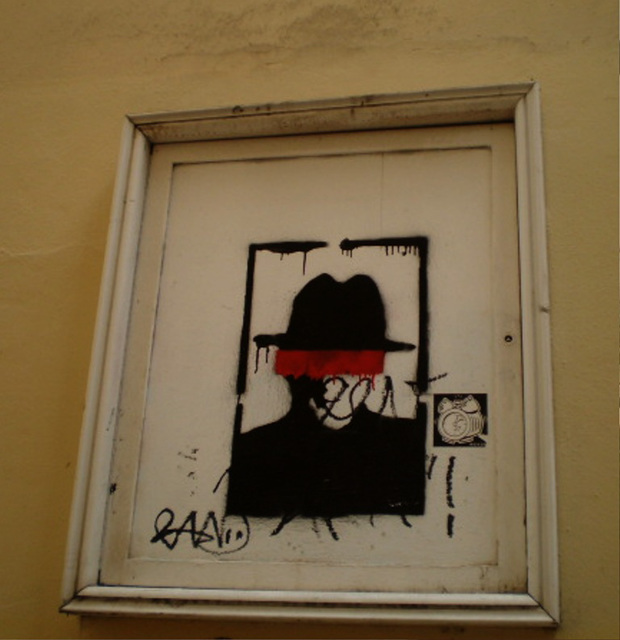 Framed street art.