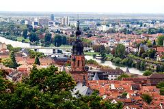 Heidelberg - Heiliggeistkirche und Neckar