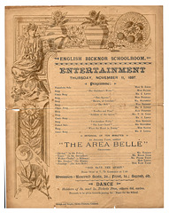English Bicknor concert programme 11 11 1897