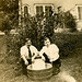 Two Guys, Board with a Washtub