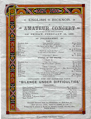English Bicknor concert programme 12 2 1886
