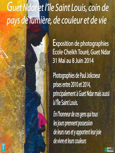 Affiche de l'exposition à Saint Louis