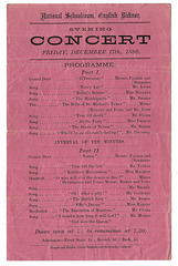 English Bicknor concert programme 17 12 1880 c
