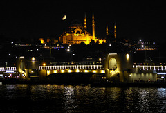 Galatabrücke mit Süleymaniye Camii