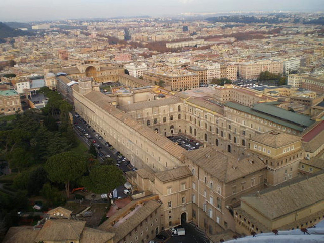 View from the dome of Saint Peter Basilica.