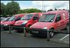 Nuneaton mail vans