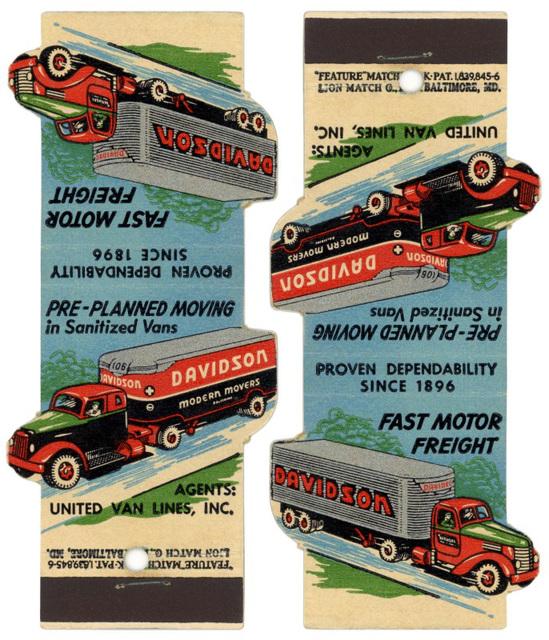Davidson Modern Movers Matchbook