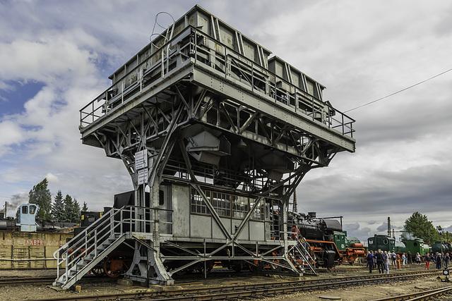 Kohlehochbunker, das Wahrzeichen des Sächsischen Eisenbahnmuseums