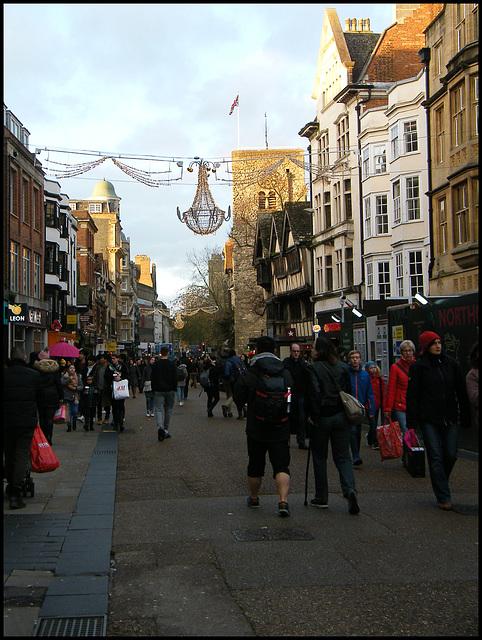 shoppers in Cornmarket Street