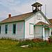 Old prairie schoolhouse.