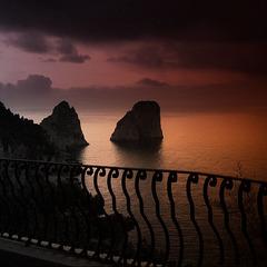 Night fall over Capri.