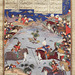 Detail of The Combat of Giv & Kamus from the Houghton Shahnama in the Virginia Museum of Fine Arts, June 2018