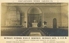 Sunday School Rally Service Invitation, First Reformed Church, Carlisle, Pa., Oct. 7, 1906