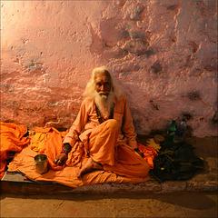 The old sadhu.