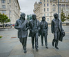 The Beatles in their home town of Liverpool.