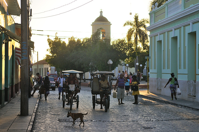 Sunset at the Plaza Carrillo in Trinidad Cuba