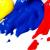 Les couleurs primaires:(rouge, jaune , bleu)